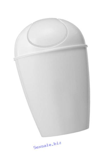 Uniware , Plastic Swing-Top Dustbin/ Trash Can, Egg Shape, White (30 Liter)