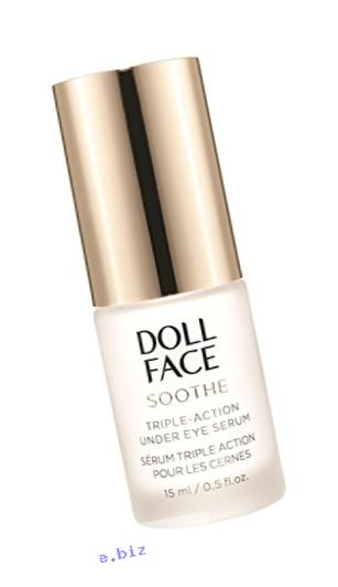 Doll Face Beauty Soothe Undereye Puffiness Serum, 0.5 Ounce