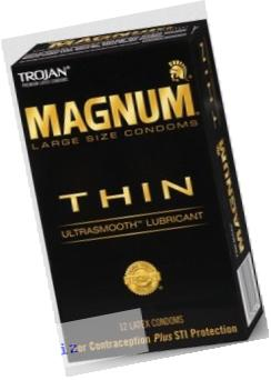Trojan Condom Magnum Thin Lubricated 12Pc - 2 Packs