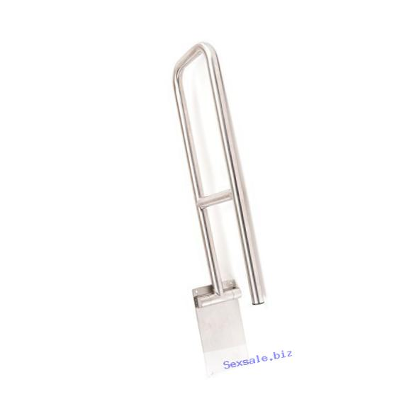 CSI Bathware BAR-FB29-125-SA ADA 29-Inch Swing Down Flip Up Grab Bar U-Shaped Safety Bar, Stainless Steel Satin Finish by CSI Bathware
