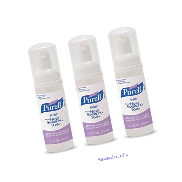 PURELL Alcohol-Free Foam Hand Sanitizer - Advanced Non-Alcohol Formula, 45mL Pump Bottle (Pack of 3)
