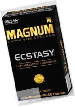 Trojan Condom Magnum Ecstasy Ultrasmooth Lubricated 10Pc - 2 Packs