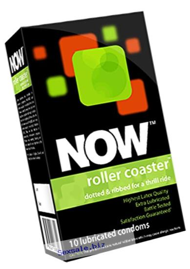 NOW Roller Coaster Ribbed and Dotted Condoms, 10 Count