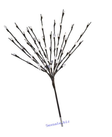 Hi-Line Gift LtdFloral Lights Lighted Pussy Willow Branch with 60 Bulbs, 20 inches