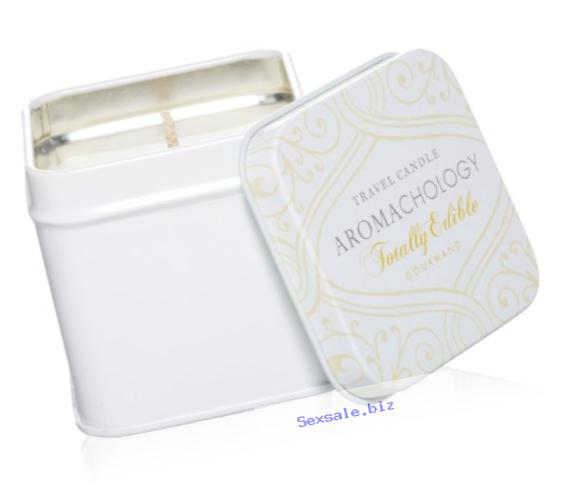 AROMACHOLOGY Soy Wax Travel Candle, Totally Edible Gourmand