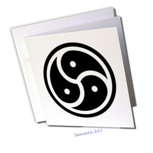 3dRose BDSM symbol - Greeting Cards, 6 x 6 inches, set of 12 (gc_159640_2)