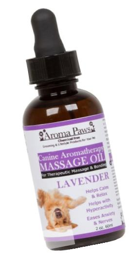 Aroma Paws Massage Oil, 2-Ounce, Lavender