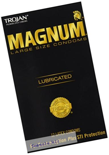 Trojan Lubricated Condom, Magnum, Large, 12-Count