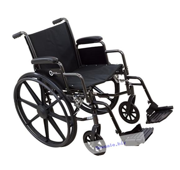 Roscoe Medical K31616DHRSA K3-Lite Wheelchair with Swing Away Footrests, 16