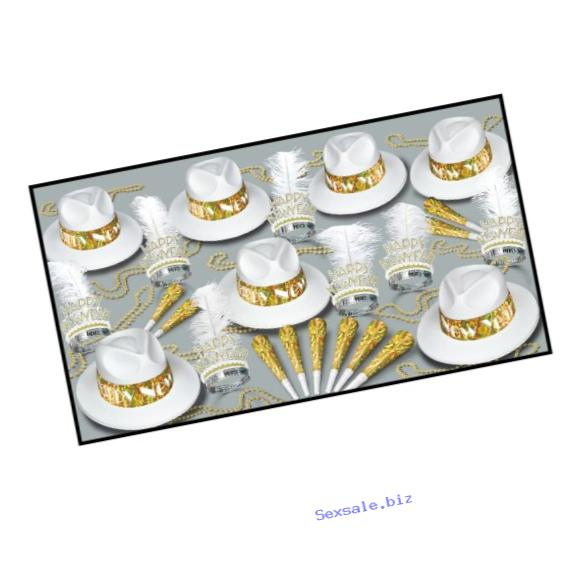 Beistle Los Angeles Swing Party Assortments for 50 People, Gold