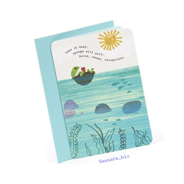Hallmark Get Well Greeting Card (Turtle Floating)