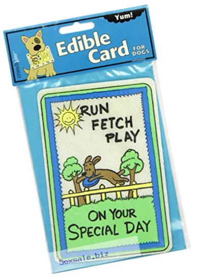Crunchkins Edible Crunch Card, Run, Fetch, Play, Special Day