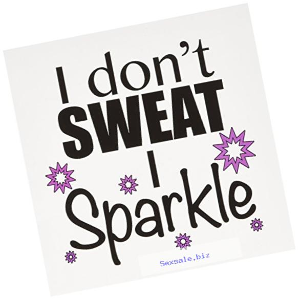 3dRose I dont sweat I sparkle, Pink - Greeting Cards, 6 x 6 inches, set of 12 (gc_171953_2)
