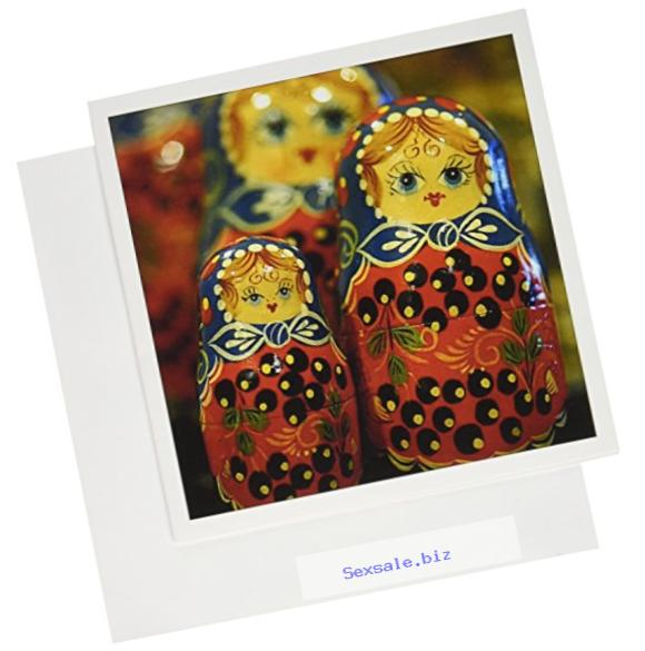 3dRose Russia Matrushka Nesting Dolls Crafts EU26 CMI0062 Cindy Miller Hopkins Greeting Cards, Set of 6 (gc_82513_1)