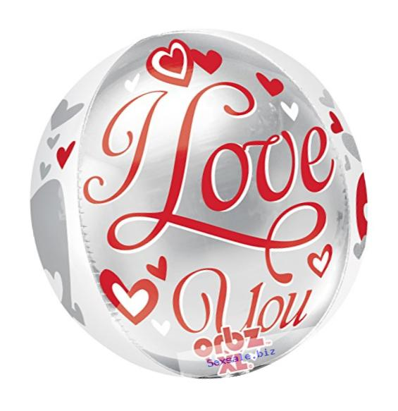 Anagram International I Love You Floating Hearts Orbz Balloon Pack, 16