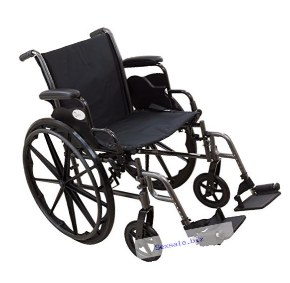 Roscoe Medical W31816S Reliance III Wheelchair with Swing Away Footrests, 18