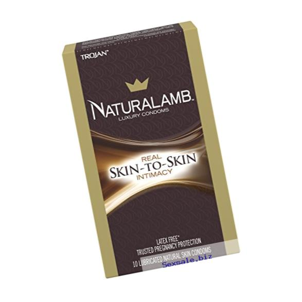 Trojan Naturalamb Lubricated Condoms, 10ct (packaging may vary)