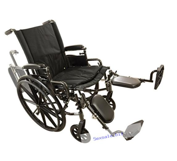Roscoe Medical W416168E Onyx K4 Wheelchair with Elevating Leg Rests, 16