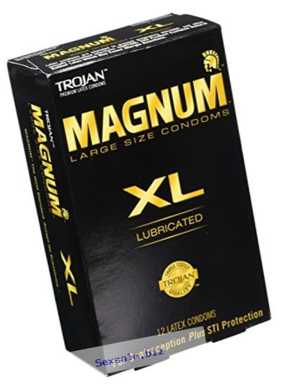 Trojan Magnum Xl Lubricated Condoms, 12 Count