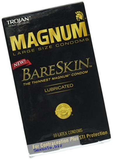 Trojan Magnum Bareskin Lubricated Condoms, 10 Count