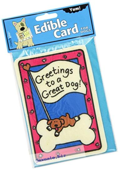 Crunchkins Edible Crunch Card, Greetings To A Great Dog