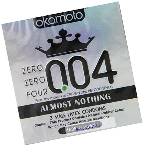 Okamoto okamoto 0.04 Zero Zero Four Condoms, 3 Count (pack of 6)