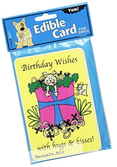 Crunchkins Edible Crunch Card, Birthday Wish Hugs and Kisses