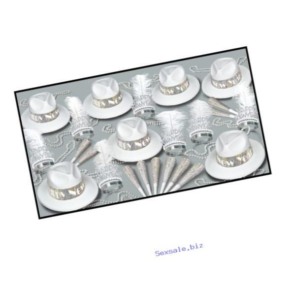 Beistle Los Angeles Swing Party Assortments for 50 People, Silver