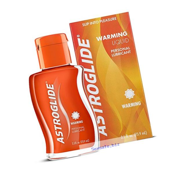 Astroglide Warming Liquid - Water Based Warming Personal Lubricant with Gentle Warming Sensation –  Long-Lasting and Latex Condom-Compatible Lube Cleans Up Easily