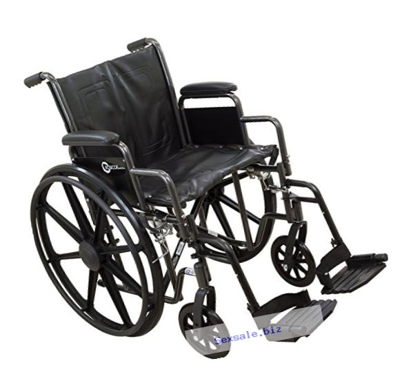 Roscoe Medical K2ST1616DHRSA K2-Lite Wheelchair with Swing Away Footrests, 16