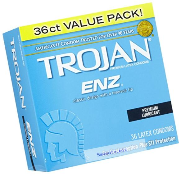 Trojan Lubricated Latex Condoms-36 ct