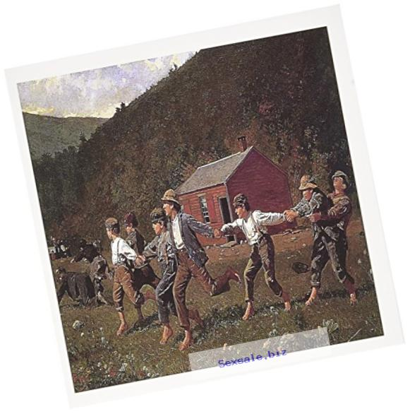 3dRose Greeting Cards, 6 x 6 Inches, Pack of 12, Snap the Whip By Winslow Homer (gc_130162_2)